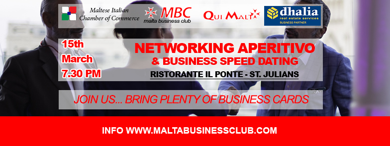 speed date aperitivo malta business club 15marzo
